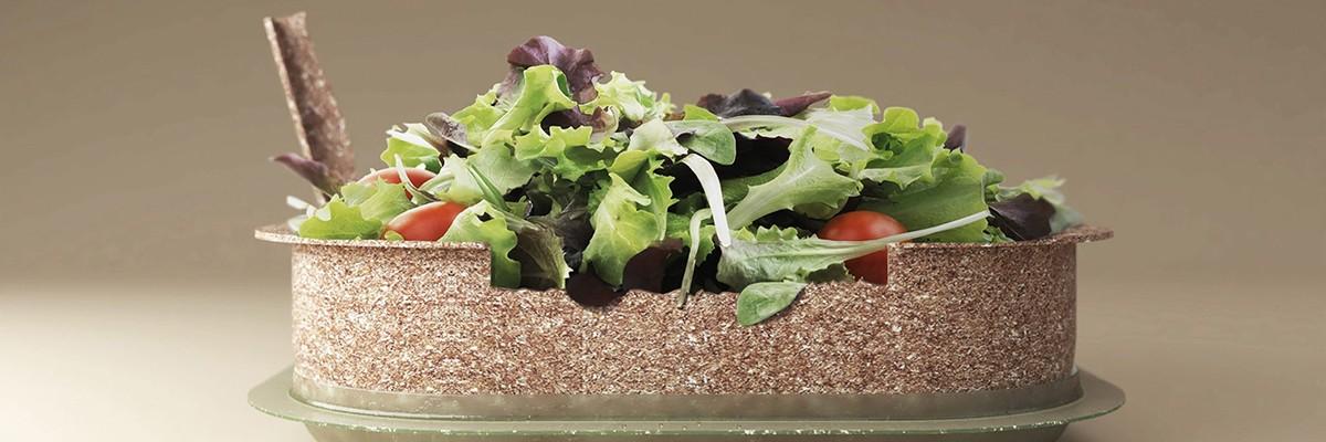 플라스틱을 대체할 '밀 껍질'로 만든 식품 용기